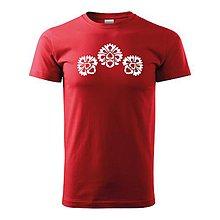 Oblečenie - Kvety folk motív - 10119674_