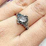Prstene - ZĽAVA 45% Rose Quartz Antique Silver Ring / Starostrieborný prsteň s ruženínom /1149 - 10114416_