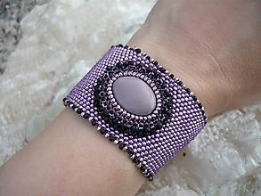 Náramky - VÝPREDAJ! Fialový náramok perleťový - 10118357_