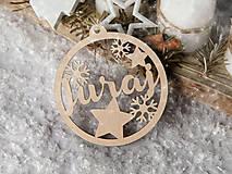 Dekorácie - Vianočná guľa s menom - 10115453_