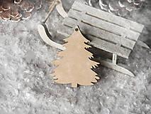 Dekorácie - Vianočná ozdoba stromček (Vzor I) - 10118930_