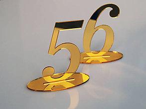 Tabuľky - Zrkadlové čísla na stoly - 10118685_