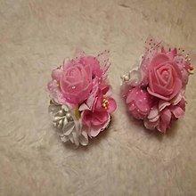 Detské doplnky - kvetinkové sponky 2 ks - 10118823_