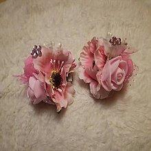 Detské doplnky - kvetinkové sponky 2 ks - 10118864_