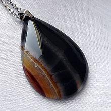 Šperky - Onyxová kvapka - 10117682_