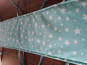 Textil - Hniezdo do postielky ... mentol (360 x 30 cm - Zelená) - 10115163_