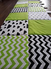 Úžitkový textil - Zástena za posteľ patchwork - 10115273_