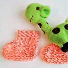 Topánočky - Orange papučky na malé nožičky - 10114184_