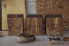 Nádoby - Koreničky z orechového dreva - 10115046_