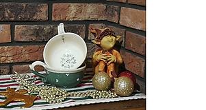 Nádoby - Keramická šálka na čaj , polievku - new zelená - 10116233_