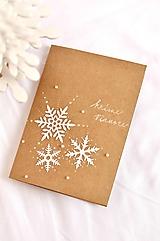 Papiernictvo - Vianočná pohľadnica - Vločky - 10117862_