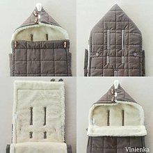 Textil - RUNO SHOP fusak pre deti do kočíka 100% ovčie runo MERINO TOP super wash do úzkych vaničiek a autosedačky Elephant grey - 10114209_
