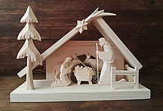 Dekorácie - Betlehem drevený s plôtikom - 10116284_