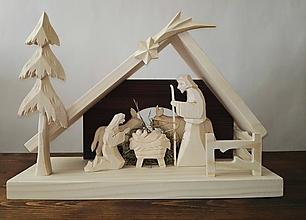 Dekorácie - Betlehem drevený s plôtikom - 10115792_