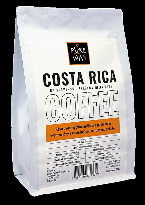 Mletá Costa Rica káva Pure Way, 200 g