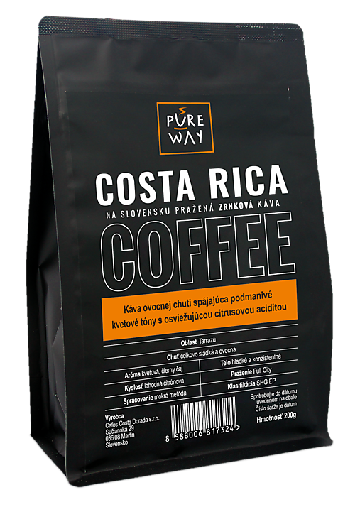 Zrnková Costa Rica káva Pure Way, 200 g