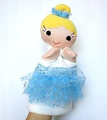 Hračky - Maňuška baletka v modrej sukničke - 10118205_
