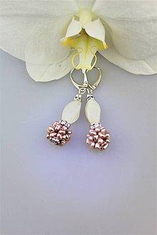 Náušnice - perly a jadeit náušnice - 10114614_