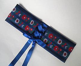 Opasky - korzetový dámsky opasok na mieru (tmavo modrý) - 10116724_