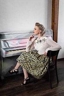 Sukne - slávnostná sukňa Zlatý ornament - 10119211_