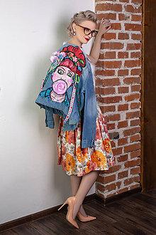 Sukne - sukňa Oranžové kvety - 10119361_