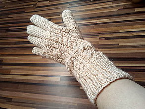 Rukavice - Pletené rukavice - 10115490_