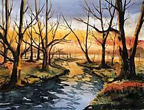 Maľovaný obraz - Hmlisté jesenné ráno