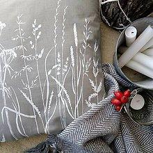 Úžitkový textil - Vankúš zimné trávy - 10116200_