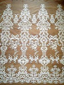 Textil - Svadobná krajka na tyle - 10114860_
