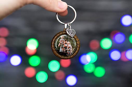 kľúčenka s fotkou (drevená kľúčenka s vašou fotkou)