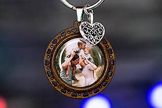 Kľúčenky - kľúčenka s fotkou (drevená kľúčenka s vašou fotkou) - 10114540_