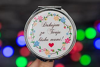 Zrkadielka - Zrkadielko s Vašou fotkou (zrkadielko pre mamu) - 10114611_