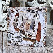 Papiernictvo - Vianočná pohľadnica  - 10117830_