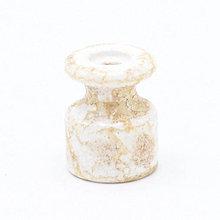 Iný materiál - Porcelánový izolátor na vedenie kábla po stene, priemer 20mm, mramorová farba - 10115689_