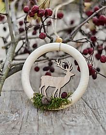 Dekorácie - prírodná vianočná ozdoba - 10118080_