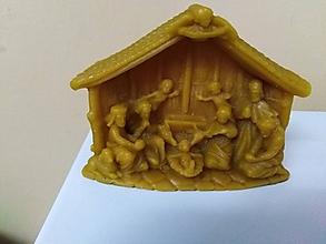 Drobnosti - Betlehem z včelieho vosku - 10115258_