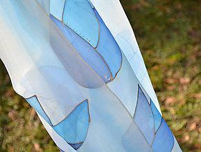 Šály - modré květy - 10117618_
