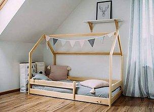 Hračky - Detská posteľ Domček-rýchle dodanie - 10114272_