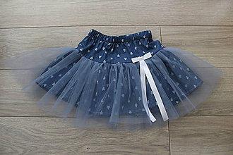Detské oblečenie - Detská rifľová sukňa s tylom - SK8 - 10118862_