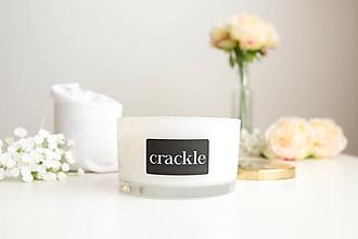 Svietidlá a sviečky - Veľká sviečka biela - Slivka, ruža a pačuli - 10115494_
