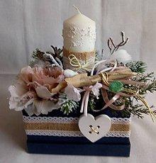 Dekorácie - vianočný svietnik - 10118356_