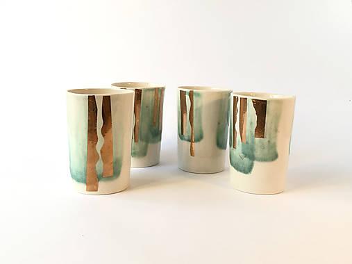 Nádoby - Porcelánové poháriky - 4ks - 10118518_
