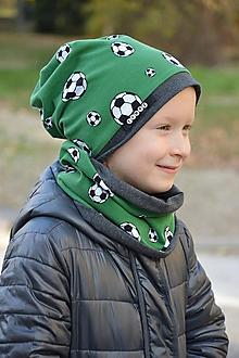 Detské súpravy - Bavlnený set obojstranný futbal - 10119381_