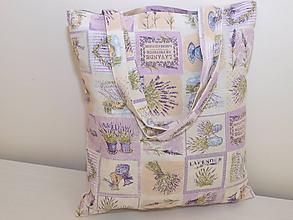 Nákupné tašky - ...levandulový patchwork... - 10114305_