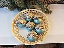Barokové vianočné gule - sada
