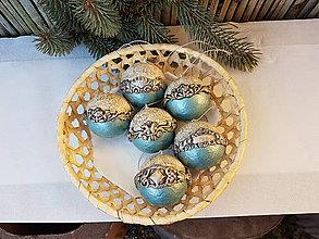 Dekorácie - Barokové vianočné gule - sada - 10114515_