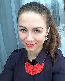 Náhrdelníky - Červený náhrdelník - 10117417_