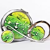 Zrkadielka - sada Kvapky - zrkadielko, háčik na kabelku, záložka - 10114468_