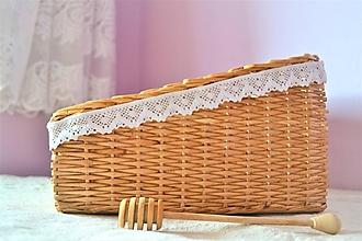 Košíky - Box medový - na chlieb - 10115014_