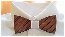 Doplnky - Pánsky drevený motýlik TOPAN DARK - 10116484_